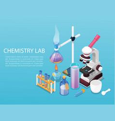 chemistry lab experiment flat design vector image