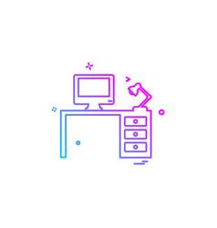computer table icon design vector image