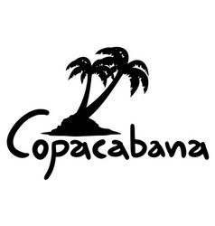 Copacabana holidays vector