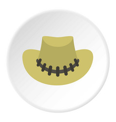 Cowboy hat icon circle vector