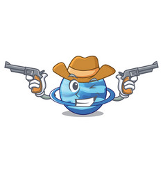 Cowboy plenet uranus images in character form vector