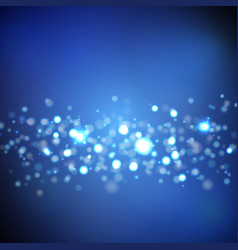 dark blue background with bokeh lights vector image