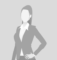 Default placeholder businesswoman half-length por vector