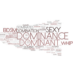 Dominance word cloud concept vector