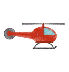 drawing helicopter transport fly image vector image