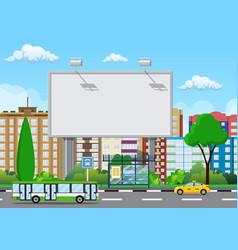 empty urban big board vector image