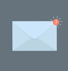 envelope with new e-mail icon vector image