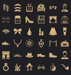 fashion life icons set simple style vector image