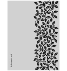 Floral pattern with ilex vector