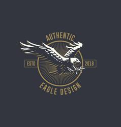 Flying eagle emblem vector