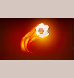 flying up burning classical football ball icon vector image