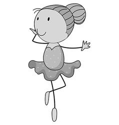 Girl doing ballet dancing vector