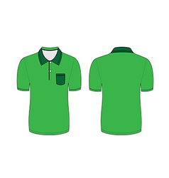 green polo t shirt vector image