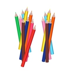 Group of colorful pencils isolated objects vector