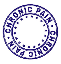 Grunge textured chronic pain round stamp seal vector