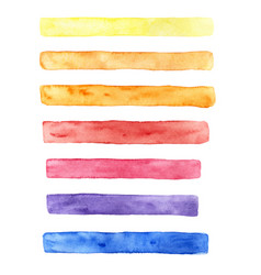 Hand drawn watercolor set of brush strokes vector