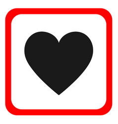 Heart icon round icon flat design vector