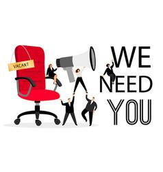Hiring office chair vector