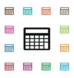 Isolated calculation icon mathematics vector