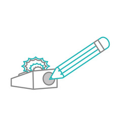 isolated pencil and sharpener design vector image