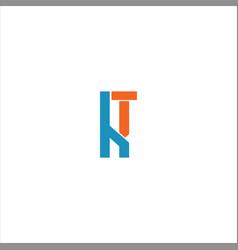 K t letter logo design on black color background vector