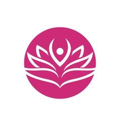 Lotus flowers design logo Template vector