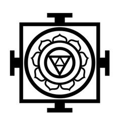Mandala chart universe oriental sacral vector