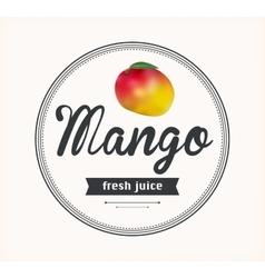 Mango juice Detailed label vector