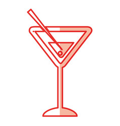margarita cocktail cup icon vector image