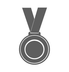 Medal winner of the prize- on ribbon vector
