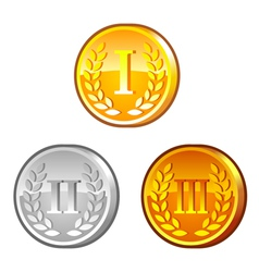 Medals with roman numerals vector