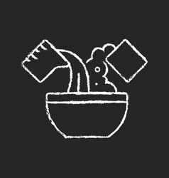 Mixing cooking ingredient chalk white icon vector