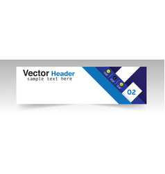 Modern blue header design background image vector