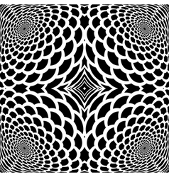Monochrome abstract snakeskin background vector image