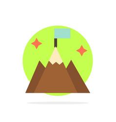Mountain flag user interface abstract circle vector