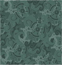 Nautical background pattern vector image