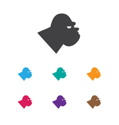 of zoology symbol on gorilla vector image