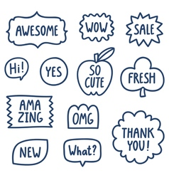 Outline phrases collection vector image
