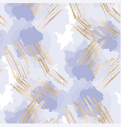 Pastel blue and gold abstract shapes pattern vector