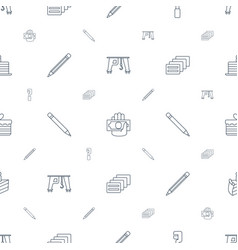 pictograph icons pattern seamless white background vector image