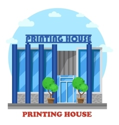 Printing house or typography shop or store vector
