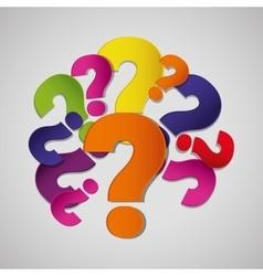 Question symbol design vector image