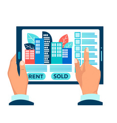 Rental purchase and sale housing real estate vector