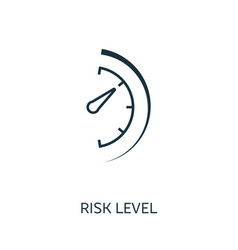 Risk level outline icon thin line concept element vector