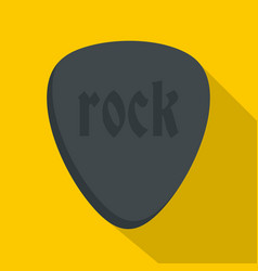 Rock stone icon flat style vector