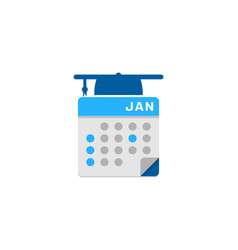 school calendar logo icon design vector image