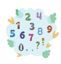set of numbers for children vector image