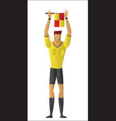 Soccer referee signaled a substitution vector