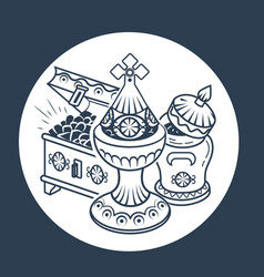 Traditional magi offerings icon vector