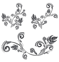 Vintage Floral Ornaments2 vector image